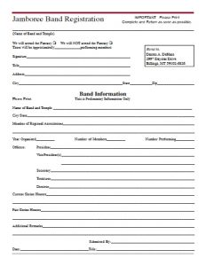 ASOB Jamboree Band Registration